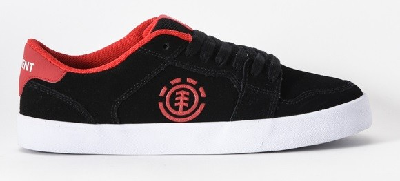 Element shoes Heatley Black White Red