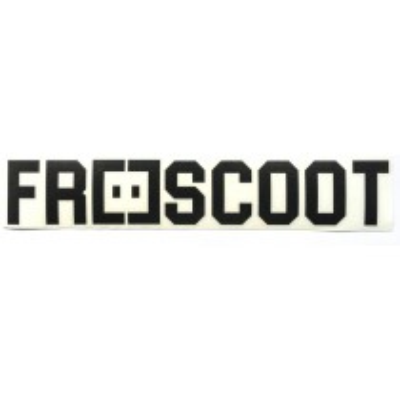 Freescoot Big Sticker White